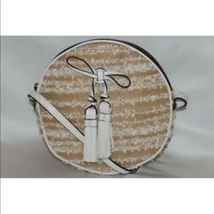 New! Patricia Nash woven straw round cross body